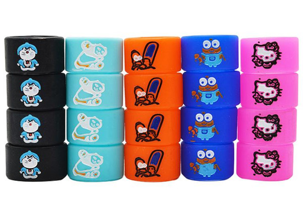 Newest Vape band Silicon Rings Engraved Cartoon Silicone Rubber Protection Decorative Ring For EVOD EGO T Twist vape pen food grade band