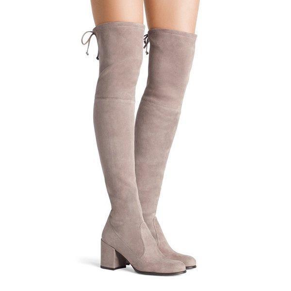 high heels women thigh high long boots autumn winter lace up platform ladies shoes sexy over the knee boots big size botas mujer