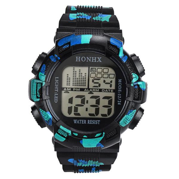 Orologio da uomo 2018 Fashion orologio di sport Uomini Digital Boy Data LCD gomma cronometro Mens Orologi Dropship