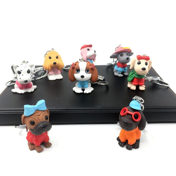 2019 nuovo simpatico cucciolo di simulazione catena chiave borsa moda auto ciondolo decorazione attività partito bambini regali novità promozionali