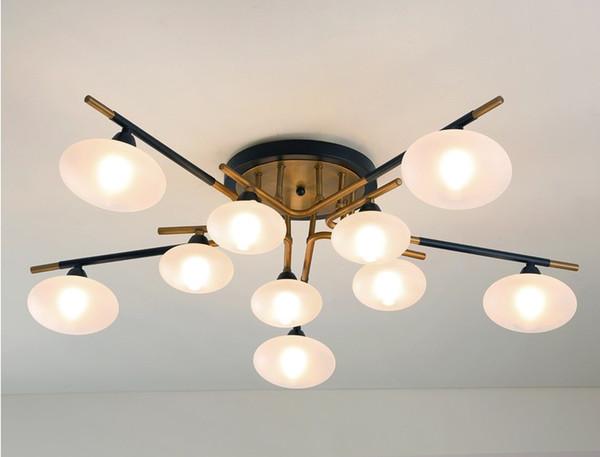 Acheter Moderne LED Nordique Salon Éclairage Restaurant Lampe Suspendue  Américain Luminaires Loft Suspendu Éclairage Bar Plafonnier LLFA De $400.41  Du ...