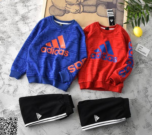 Sweat-shirts pour garçons ensembles enfants vêtements de créateurs sweat imprimé complet + pantalons tout-aller 2pcs automne coton ensembles taille 120-160cm 19