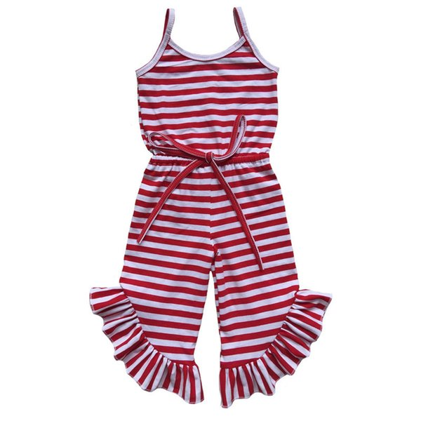 coton rayure rouge