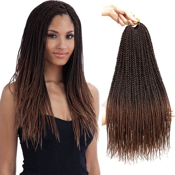 2019 Senegalese Twist Crochet Hair Braids Small Havana Mambo Twist Crochet Braiding Hair Senegalese Twists Hairstyles For Black Women From