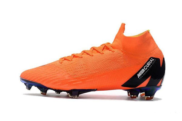 Ankle High Acc Soccer Cleats Youth Kids Boys Girls Mercurial Superfly Vi 360 Elite Fg Soccer Shoes Men Women Outdoor Football Boots With Bag