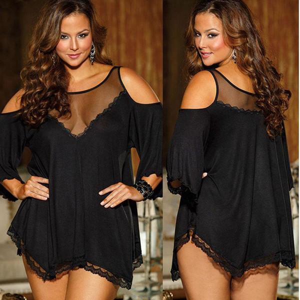 Sexy Lingerie Lady Underwear Lace Dress Babydoll Sleepwear Plus Size 20 22 24 26