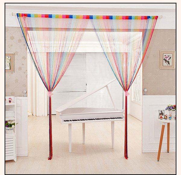 sale 3m by 3m 1m by 2m beige grey coffee red purple decorative door divider window screening for living room string curtain