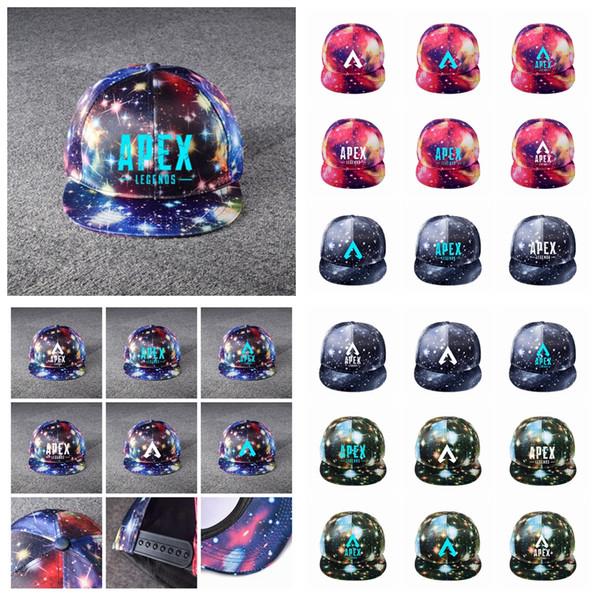 Apex legends starry sky cap 24styles game summer mesh outdoor luminous baseball cap hip hop hat light night sun hat man women AAA1933