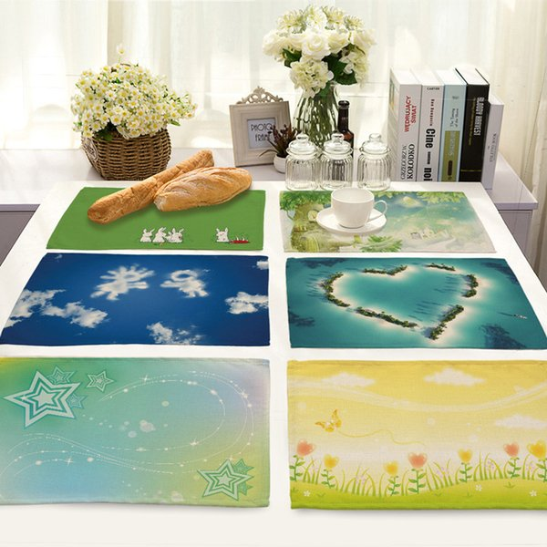2019 New Design Table Mats Home Kitchen Decoration Table Napkin for Wedding Decor Placemats Fashion Europe Table Pads