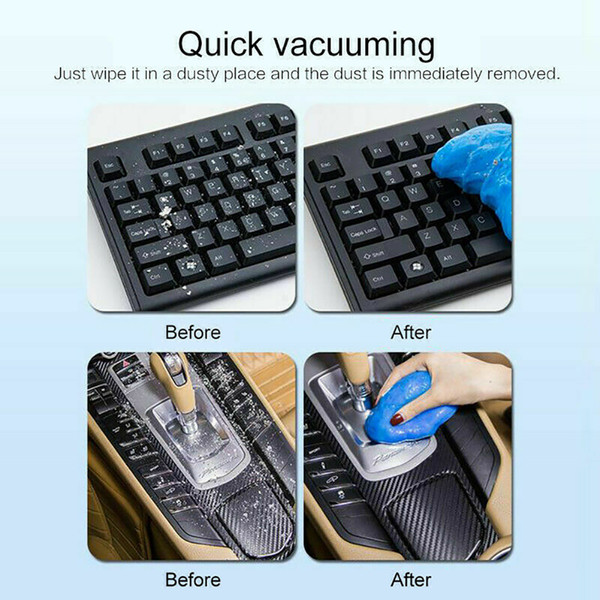 Multifunction Air Vent Keyboard Cleaning Gel Car Clean Practical Magic Reusable Dust Remove Phone For Laptop Adhesive Universal