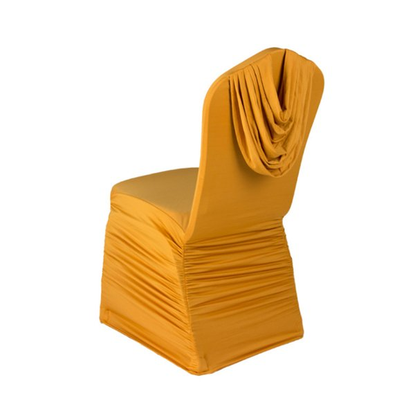 Outstanding Wedding Chair Covers Stretch Ruched Seat Home Textile Polyester Spandex Chair Cover For Wedding Banquet Restaurant Decor Inexpensive Chair Covers Ibusinesslaw Wood Chair Design Ideas Ibusinesslaworg