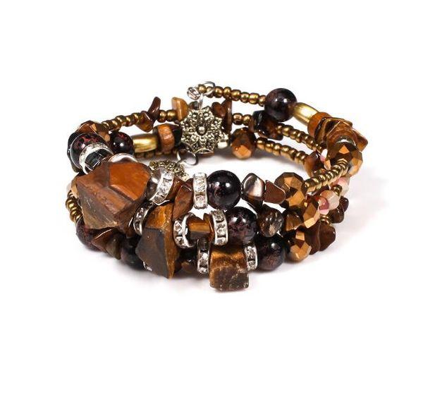Fashion Multi Layer Crystal Rhinestone Agate Stone Beaded Bracelet Wholesale Cheap Amazon Hot Sale Women Hand Charms Jewelry