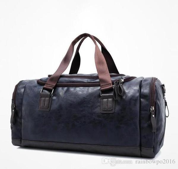 Factory sales brand bag fashion cool black bulk bag fan metrosexual man high quality leather waterproof portable leisure bag