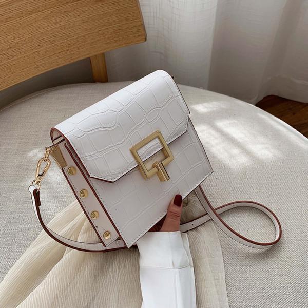 Motif pierre Sacs Crossbody chaîne en cuir pour les femmes Voyage de luxe Sacs à main Petit épaule Messenger Sacs Femme flaps de simples