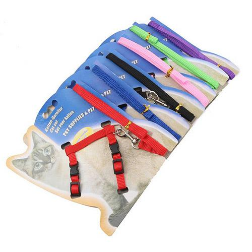 pet nylon rope cat traction rope chest suspenders traction belt chain collar for cats pet supplies adjusting range - from $3.21