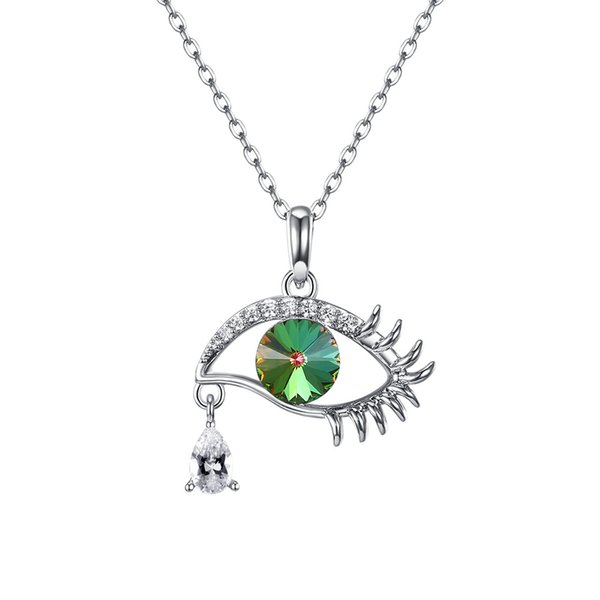 2018 high quality Devil's eye pendant necklac pendant necklace with swarovski crystal elements S925 sterling silver multiple style necklaces