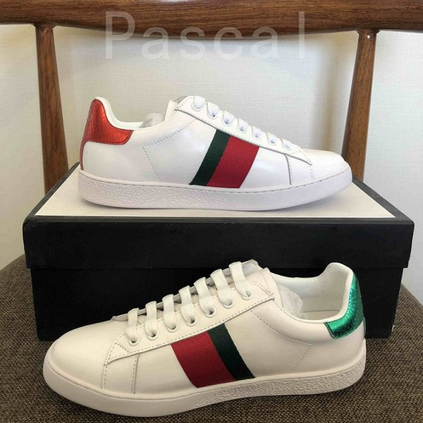 2020 New man women luxury designer shoes blue red stripe with top quality new upgrade version casual ace shoes