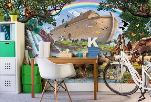 Carta da parati personalizzata rotolo 3 d Sunlit cavallo bianco home decor soggiorno camera dei bambini Paesaggio sfondo murale foto wallpaper