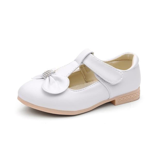 nuevos productos venta barata del reino unido Moda Compre Zapatos De Cuero Blanco Para Niños Zapatos De Vestir Para ...