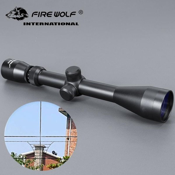 3-9x40 Rifle Outdoor Reticle Sight Optics Sniper Deer Scopes Free Shipping Scope Red Dot Hunting FIRE WOLF
