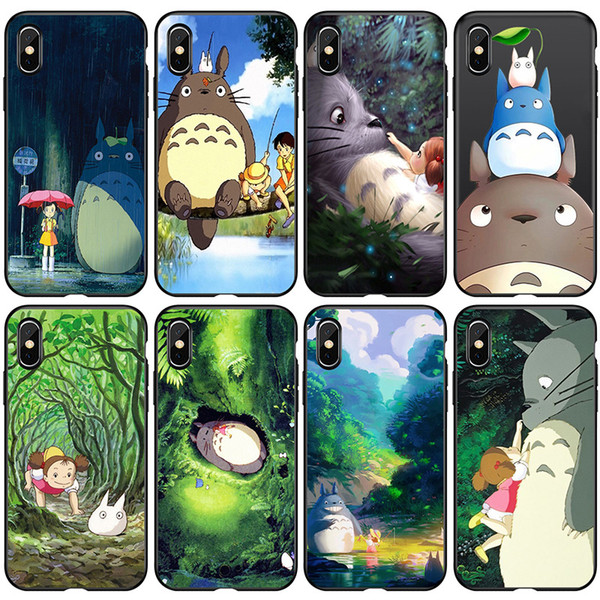 3D Japan Cartoon Cute Totoro Phone Case for IPhone X XS MAX XR Xmas 8 7 6 S 6S Plus I Phone 6 Paint Shell Clear Back Cases Kawaii Cover