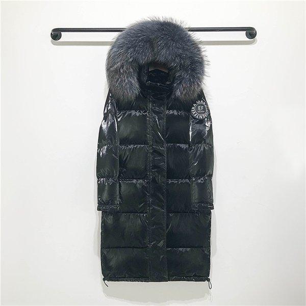 siyah ceket gri kürk