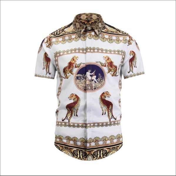 2019 summer new style VERSACE Retro Style, Casual fashion, Men's t-shirt Combed cotton 3D printing pattern Size M---XXL