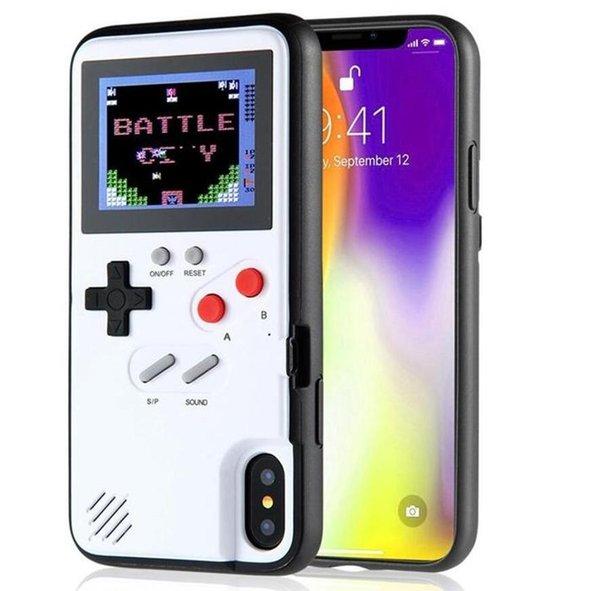 NewMini Handheld Игровые приставки телефон случае Силикагель защитный рукав ретро игры машина плеер цветной ЖК-дисплей для iphone6 7 8 8plus X XS Max XR