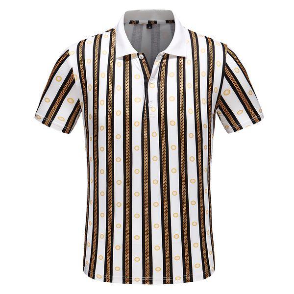 2019 Camiseta casual para hombre nueva solapa de moda POLO camisa de diseñador de lujo de impresión de algodón camiseta de alta calidad Tamaño M-3XL