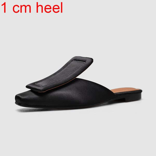 черный каблук 1 см