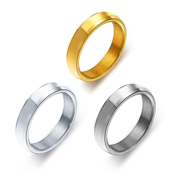 Ehering für Männer Frauen Gold / Schwarz / Silber Farbe Paar Ringe