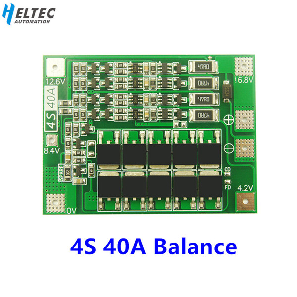 top popular Battery Accessories 18650 BMS 4S 40A Li-ion Lithium Battery Charger PCB BMS Protection Board with Balance For Drill Motor 14.8V 16.8V Lipo 2021