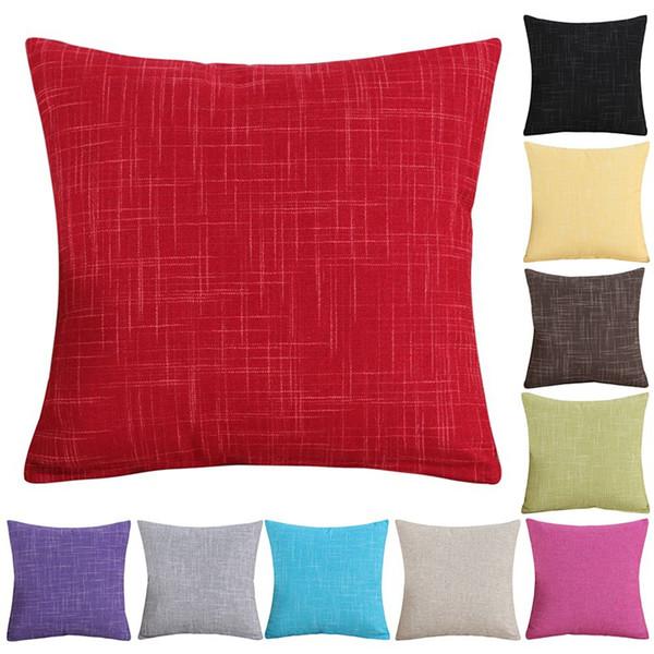 45x45cm Solid Color Pillow Case Nordic Home Products Chair textile Pure color Pillow Case Pillowcase Simple Plain Textile