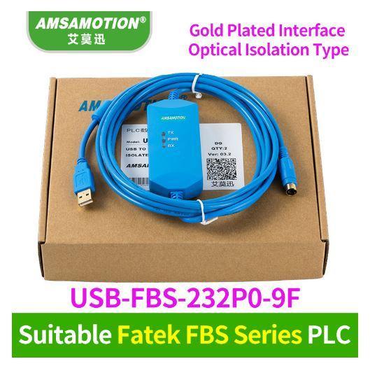 top popular Suitable FATEK FBS series PLC Programming Cable Communication Data download line USB-FBS-232P0-9F+ 2021