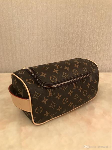 saco mulheres da embreagem carteira de cosméticos de alta qualidade carteira dos homens de couro bolsa com zíper lavar saco bolsa carteira 01
