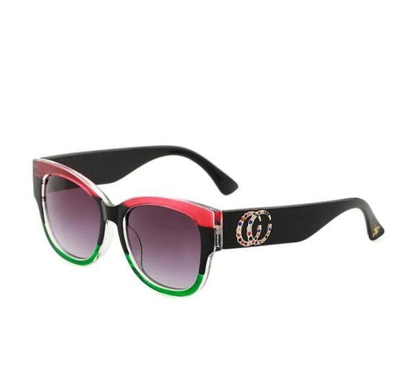 Хрустальные солнцезащитные очки Женщины Diamond Bee три цвета очки солнцезащитные очки Мужчины Женщины на открытом воздухе вождения Глаз Солнцезащитные очки KKA6841