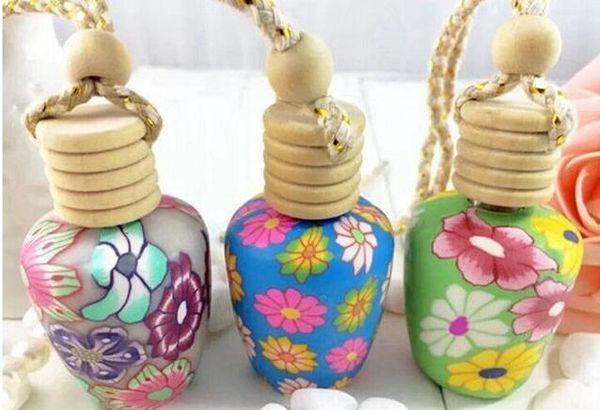 Envío gratis 15 ML Car colgar decoración Cerámica esencia Perfume colgar la cuerda Colgante botella vacía, 200 unids / lote