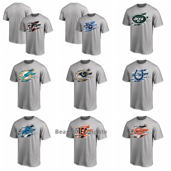 2019 Bears Falcons Lions Bengals Titans Jets Colts Redskins Dolphins Rams Saints Pro Line True Color T-Shirt