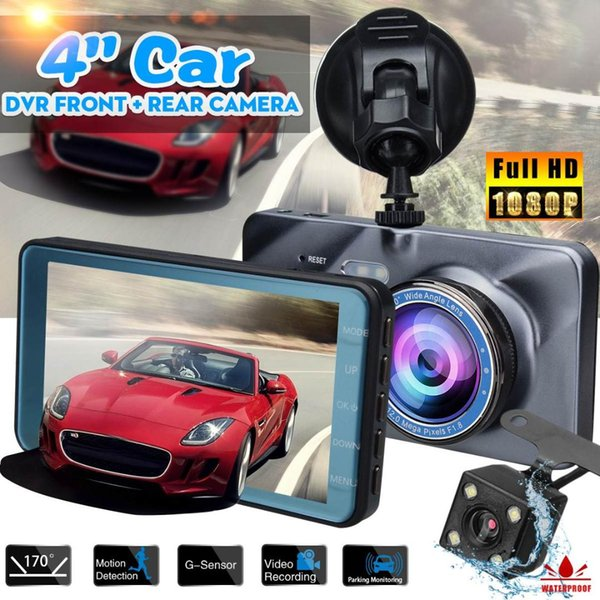 4/'/' Dual Lens Camera HD 1080P Car DVR Vehicle Video Dash Cam rear view camera