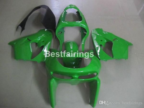 Kit de carenado para el juego de carenados de ABS verde Kawasaki Ninja ZX9R 98 99 ZX9R 1998 1999 YW01