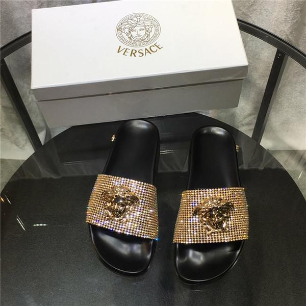 Mulheres BAROQUE MEDUSA SLIDES Designer de Luxo Mens Sandália Moda Novo Estilo Sapatos Casuais de Alta Qualidade Das Mulheres Chinelo Tamanho 35-45 Withe