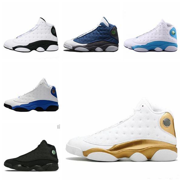 Yüksek kalite 13 s erkek Kadın ayakkabı GS Hiper Kraliyet İtalya mavi Bordo Flints Chicago Bred DMP Buğday Zeytin Siyah Kedi sneakers