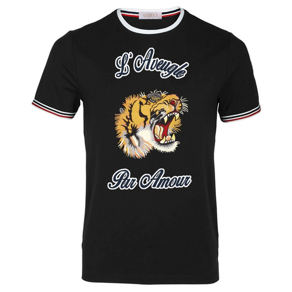 2019 Luxury New Style Designer T Shirts Fashion Casual Summer Mens Tiger Printed Tshirts Size S-3XL
