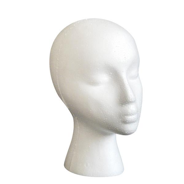 1PCS Styrofoam Foam Mannequin Female Head Model Dummy Wig Glasses Hat Display Stand Manikin Head hair care tools fast sending