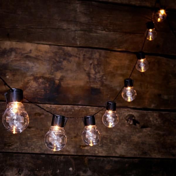 Solar Powered Retro Bulb String Lights For Garden Outdoor Fairy Lamp Strings Novelty String Lights String Patio Lights From Raoying8888 14 62