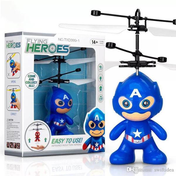 3p droni elicotteri rc bambini i giocattoli di Natale con Spiderman superman batman tirapiedi sytle giocattolo di volo del LED per i bambini