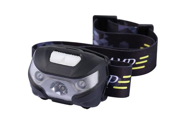 NEW Mini Q5 USB Rechargeable LED Headlamp Body Motion Sensor Headlight Camping Flashlights Head Light Torch Lamp