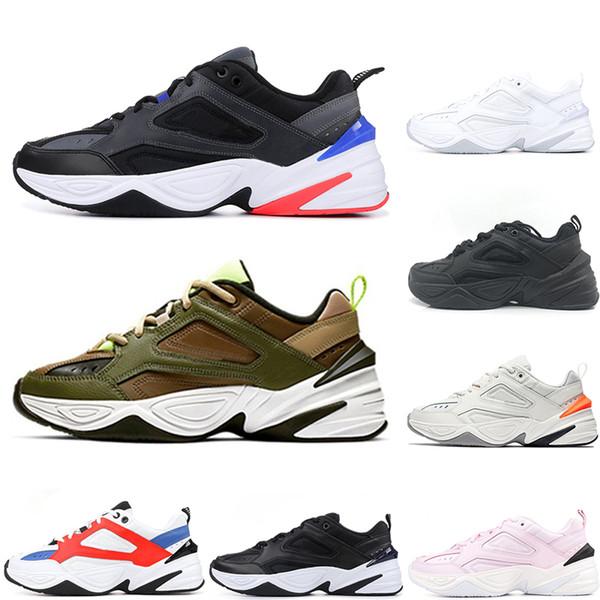 Compre Nike M2K Tekno Venta Caliente París Negro Blanco Rosa M2K Zapatos Monarca Tekno Papá Zapatillas Deportivas Zapatillas De Diseño Zapatillas De