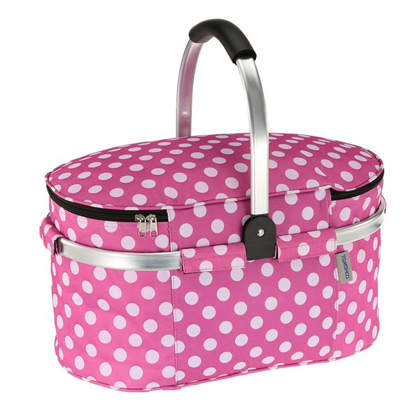 Hot Selling Outdoor Insulated Lunch Box Storage Containers Carry Bag Travel Foldable Picnic Basket Storage Shopping Basket