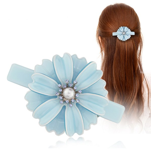 Hair pin Hair Clips Flower Hair Accessories Jewelry Ornament for Women Girls Rhinestone Pearl Accessory Wedding Bridal Party